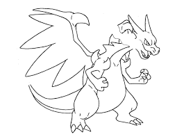 Pokemon Mega Charizard Coloring Pages Pokemon Coloring Pages