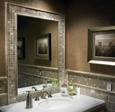 bathroom mirror frame tile.  Tile Bathroom Mirror Frame Tile Home Design The Most Framed And 6 Throughout F