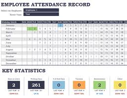 Attendance Tracking Template Gorgeous Excel Employee Attendance Tracker Tomburmoorddinerco