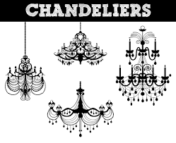 vintage chandelier silhouette popular items for chandelier clip art on