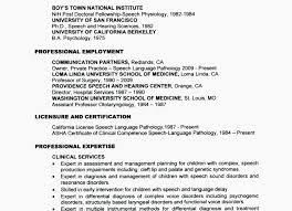 ☾ 40 Speech Therapist Resume Impressive Speech Language Pathology Resume