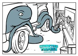 Monster Trucks Printable Coloring Page | Books and Movies ...