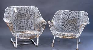 metal mesh patio furniture. Rustic Iron Chair In White By Woodard Furniture For Patio Ideas Metal Mesh A