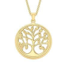 t h baker9ct yellow gold tree of life pendant 1 68 4503