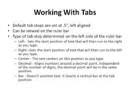 type of tab lesson 4 revising the document layout microsoft word ppt download