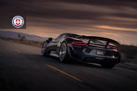 porsche 918 spyder black. porsche 918 spyder with hre p101 in brushed dark photographed by linbergh big euro black