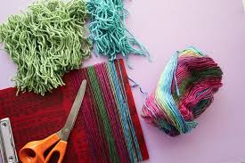how to make latch hook with regular yarn mypoppet com au
