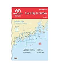 Maptech Waterproof Charts Maine Wpb Casco Bay To Camden 3rd 2018 Maptech Amazon Com Books