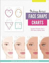 makeup artist face shape charts the beauty studio collection gina m reyna 9781539590903 amazon books