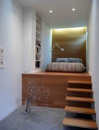 Fabulous Small Bedroom Embraces Minimalism With Style View In Gallery  Floating Stairs Lead To The Loft Bed