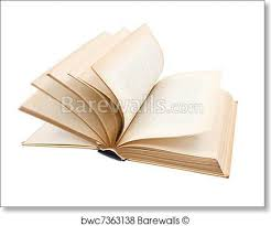 art print of turning pages of old book