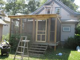 image of diy screen porch plans