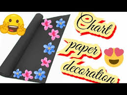 How To Decorate A Chart Paper Border How To Decorate Chart Paper Border On Chart Paper Best Chart Paper Decorations Tutorial