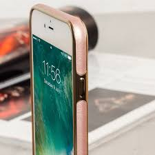 iphone 7 plus rose gold. olixar makamae leather-style iphone 7 plus case - rose gold iphone s