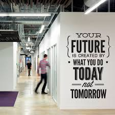corporate office decorating ideas pictures. Wall Decal Quotes - Vinyl Quote Do It Today Not Tomorrow Office Sticker Decor Corporate Decorating Ideas Pictures E