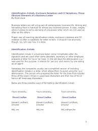 Business Letter Format Enclosure Cc Infoe Link