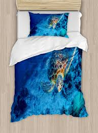 hawaiian duvet covers. Modren Hawaiian Ambesonne Oceanic Wildlife Themed Photo Of Sea Turtle In Deep Waters Reef Hawaiian  Duvet Cover Set  Wayfair To Covers I