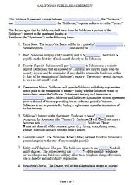 Tenants who are not sure how to word a sublease agreement should consult with an attorney who. Free California Sublease Agreement Template Pdf Word Doc