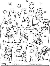 Small Picture Stunning Design Winter Coloring Pages Free Printable For