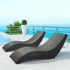 hanz modern outdoor chaise lounge  eurway furniture