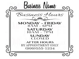 printable store hours sign business hour signs printable store hours sign free tinbaovn info