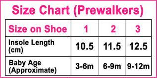Size Chart Raf Raf Shoes