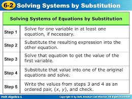 solve with substitution math 7 solve systems of equation using the substitution method solve 3 equations