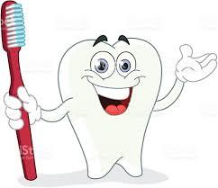 Dessin Anim De Dent Avec Brosse Dents Stock Vecteur Libres De