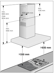Hood Range Installation Bosch Dwa074w50b Classixx 70cm Stainless Steel Chimney Cooker Hood