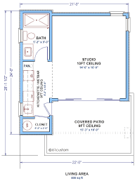small guest house plan backyard studio houseplan
