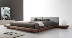 modern platform beds with lights. Delighful Beds Modrest Opal Modern Walnut U0026 Grey Platform Bed Throughout Beds With Lights B