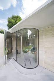 Curved Architecture Architecture Transparent Curved Glass Architecture With Metal