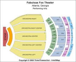 Fabulous Fox Theater Atlanta Seating Chart Fox Theater Atlanta Orchestra Seating Chart Www