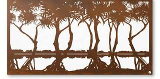 pandanus garden wall art on coastal wall art melbourne with metal wall art archives boodle concepts archive boodle concepts