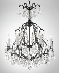 exciting iron and crystal chandelier wrought iron chandelier black iron chandeliers with white candle