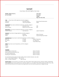 Resume Layout Lovely Acting Resume Layout Personal Leave 58