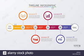 Infographic Timeline Template Business Concept Vector Can Be Used