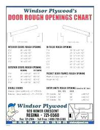 Door Rough Opening Chart Exterior Prehung Door Rough Opening Houseathaya Co