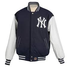New York Yankees Bedroom Decor Jh Designs Mens New York Yankees Reversible Wool Varsity Jacket
