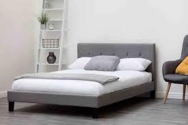upholstered bed grey. Blenheim Grey Fabric Upholstered Double King Size Bed Frame