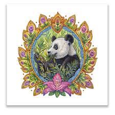 chinese giant panda wall art panel by artist judith haron at estartdecor  on giant panda wall art with art panel chinese giant panda est art decor