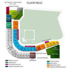 Spirit Communications Park Seating Chart Fluor Field 2019 Seating Chart