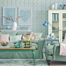 calming green living room pastel colour
