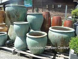 extra large pots and large opal green
