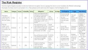 Risk Log Template Project Management Opusv Co