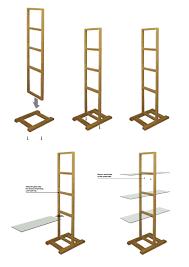 free standing shelf units wood installation instructions