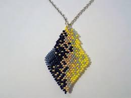 navy loves lemon woven pendant necklace