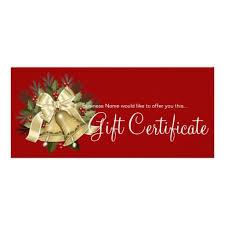 Holiday Gift Certificates Holiday Gift Certificate Tan Christmas Bells Zazzle Com