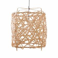z3 birds nest bamboo large pendant