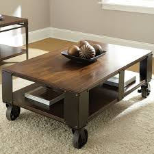 Steve Silver Barrett Rectangle Distressed Tobacco Wood Coffee Table |  Hayneedle